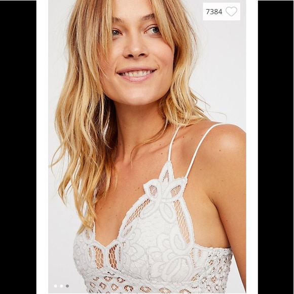 a88f16c36d780 NWT Free People One Adella Bralette White Size M